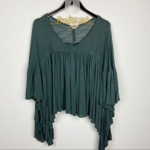 Anama for Anthropologie boho blouse top M